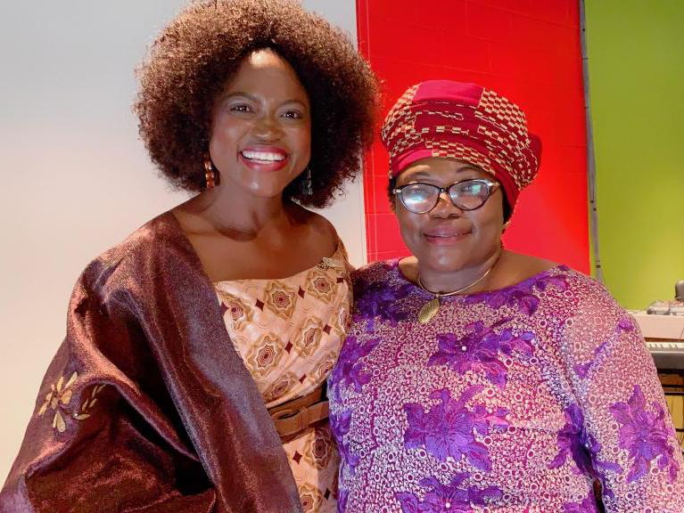 DR. QUEEN BLESSING ITUA (Chair, African Union Sixth Region USA) and H.E. PROF. SARAH AGBOR, (Commissioner, Human Resources, Science and Technology, African Union Commission)